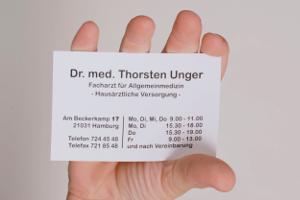 Kontakt Visitenkarte